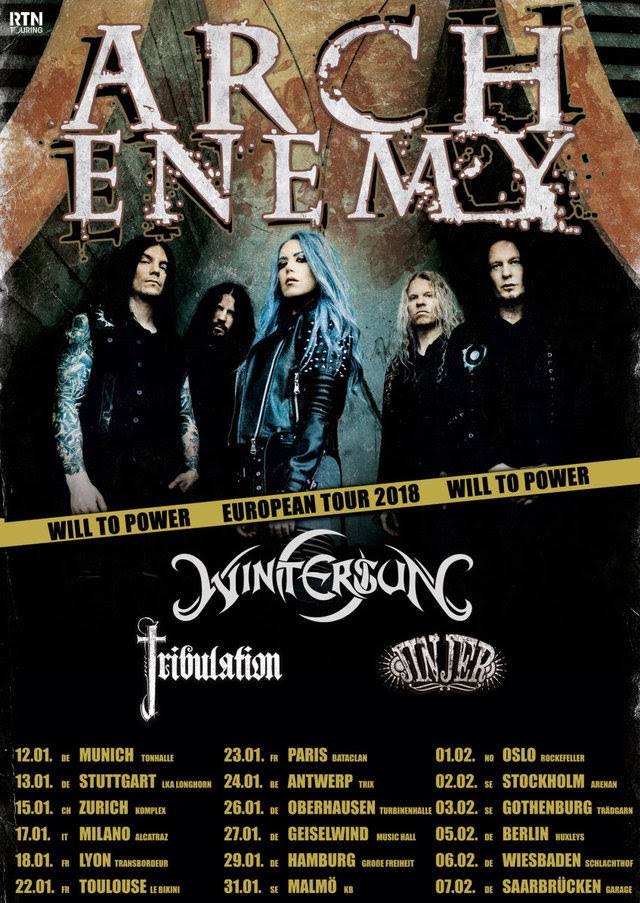 Arch Enemy Tour 2018