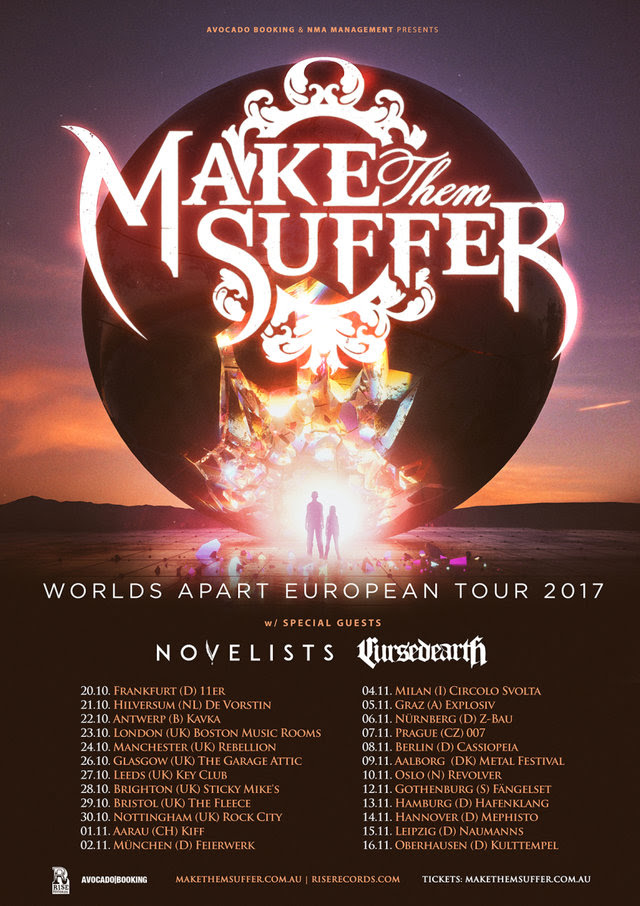 make the suffer europa tour