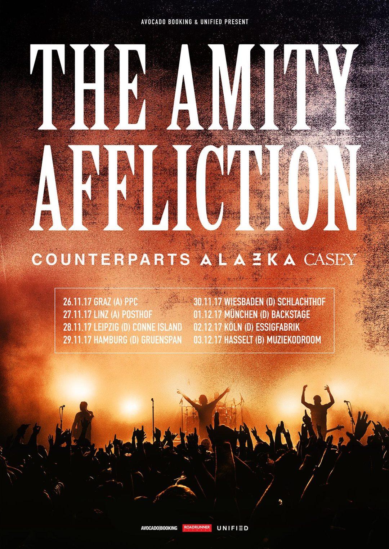 Counterparts, The Amity Affliction, ALAZKA, Casey Tour