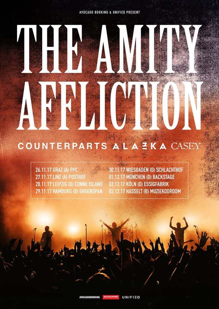 Counterparts, The Amity Affliction, ALAZKA, Casey Tour