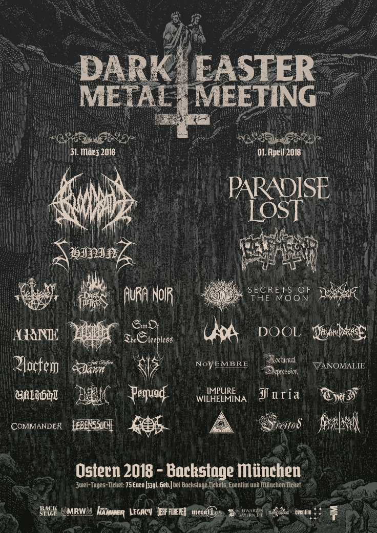 Dark Easter Metal Meeting 2018 Plakat NEU NEU