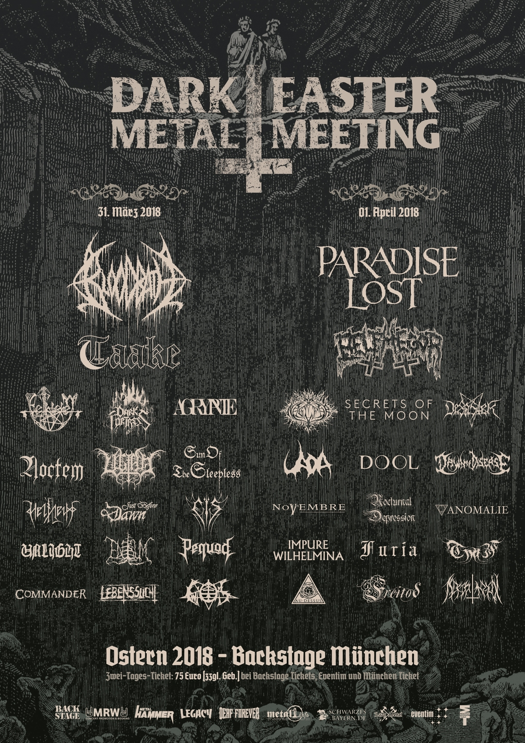 Dark Easter Metal Meeting 2018 Plakat NEU