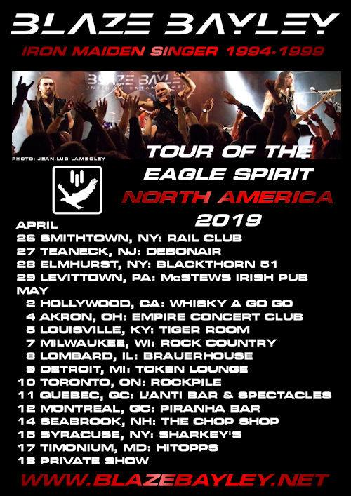 blaze north amerika tour