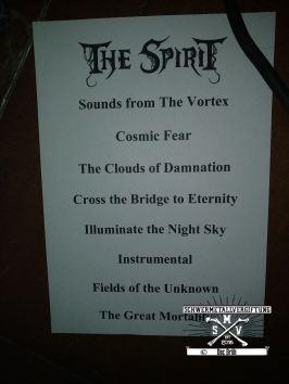 Setlist THE SPIRIT