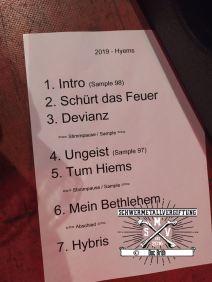 Setlist Hyems