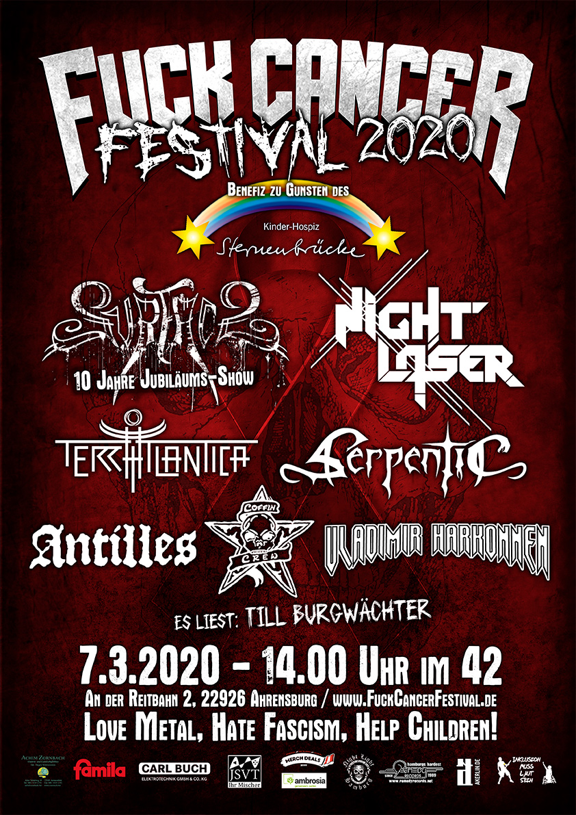 Fuck Cancer Festival 2020 Flyer